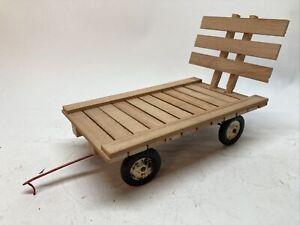 Custom 1/16 Wooden Hay Wagon Flat IH Farm Toy Tru Scale w/Running Gear