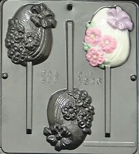 Fancy Egg Lollipop Chocolate Candy Mold Easter  1826 NEW