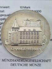 DDR 10 Mark von 1986 Gedenkmünze Charite Berlin Silber MDM