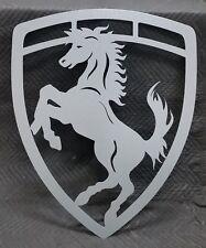 Horse badge 36 inch sign. Metal wall art.