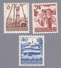 Generalgouvernement Mi.Nr. I-III postfrisch mit Fotoattest Pfeiffer