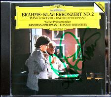 Krystian ZIMERMAN Signiert BRAHMS Piano Concerto 2 BERNSTEIN CD Klavierkonzert