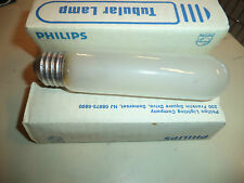 Lot of 4 Philips 25W 120V T10 Frost E26 Medium Base Incandescent light bulb