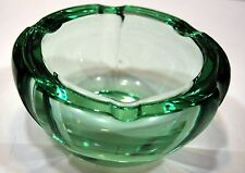 DAUM NANCY ART DECO 1940 1950 CENDRIER verre massif taillé diam:14,2 h:7cm