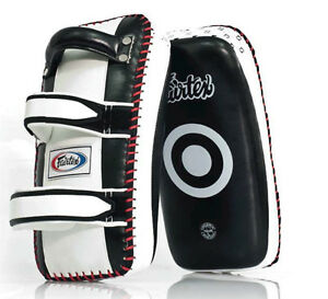 Fairtex Muay Thai Curved Kick Pads  KPLC Training kicking pads Standard Small