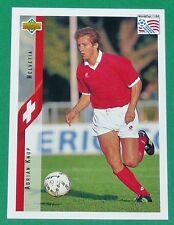 FOOTBALL CARD UPPER DECK 1994 USA 94 ADRIAN KNUP SUISSE HELVETIA SCHWEIZ