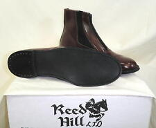 Reed Hill Brown Leather Zipper Jod Boots Ladies size 9 1/2 C - Made in USA