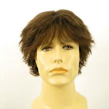 Perruque homme 100% cheveux naturel châtain clair ref DANY 8