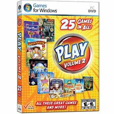 PLAY! Volume 2 by Viva Media (Windows PC DVD) Collection of 25 Great Games! NEW