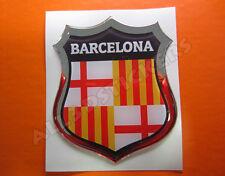 Pegatina Emblema 3D Relieve Bandera Barcelona Ciudad - Todas las Banderas MUNDO