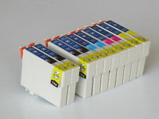 10PK Inks for T125 T1251-4 fit Epson 320/520 NX130/420/530 2 Set+ 2 extra black