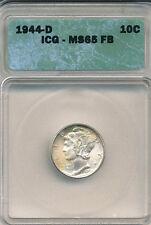 1944-D Dime ICG MS65 FB Toned
