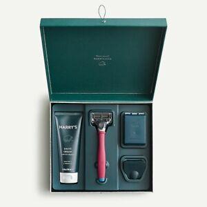 Harrys Razors x J Crew Burgundy Red Truman Razor Shave Gift Set NEW Shaving