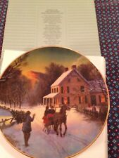 Avon 1988 Christmas Plate, Home For The Holidays