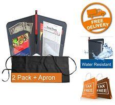 2x Restaurant Waiter Books Server Pads Organizer Server Wallet + Apron Bonus