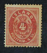 CKStamps: Iceland Stamps Collection Scott#2 Mint H OG Tiny Hole