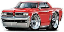 1964 Pontiac GTO 389 Tri-Power Hurst 4 Speed Cartoon Car Wall Graphic Man Cave