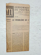 FRANCE FOOTBALL OFFICIEL HEBDOMADAIRE FFF N°444 21/09 1954