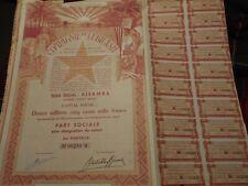 SCRIPOPHILY-BONDS AND SHARE CERTIFICATES Compagnie du Lubilash  no 00240
