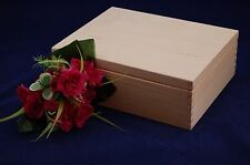 Plain Wooden Storage Box Perfect For Decoupage and other Crafts (25.5x20x9)