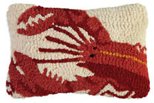 "Chandler 4 Corners - Red Lobster 8"" x 12""  Hooked Pillow 167REDLOBSTER"