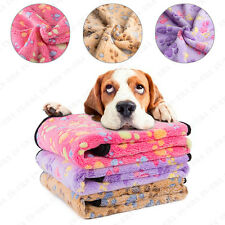 3Pcs Soft Warm Paw Print Fleece Pet Blanket Dog Cat Puppy Bed Mat Cover 76*52Cm