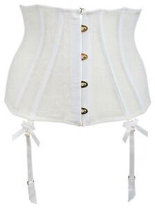 Ex-Store Lace Boned Waspie Suspender Belt Cream