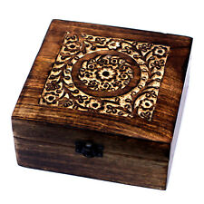 Mango Wood Floral Aromatherapy Oils Box for 25 Bottles Essential / Fragrance Oil