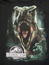 L black Jurassic World movie t-shirt - T-Rex