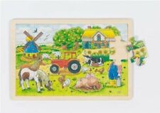 Wooden Animals Goki Jigsaw Puzzles