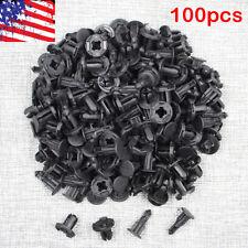 100 Pcs Plastic Rivets Retainer Clip 18 x 20 x 8.5mm for car Bumper Fender Nissa