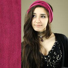 Nepalese Double Wrap Long 100% Cotton Headband Hair Band Hippy Boho Dreads Pink