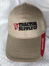 Tractor Supply Company - Strapback Hat - Tan Red 100% Cotton Farm Equipment