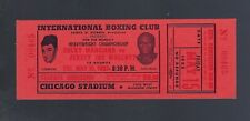 VINTAGE 1953 ROCKY MARCIANO vs JERSEY JOE WALCOTT FULL BOXING TICKET - 1ST RD KO