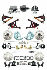 """A F X Body GM Black 2"""" Drop D/S Disc Brake Kit w/ Control Arms & Black Booster"""