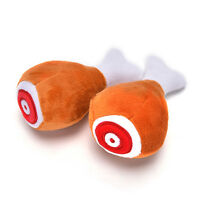 1pc Drumstick Chew Play Toy Pet Dog Cat Squeaker Squeaky Plush Chicken Leg HF