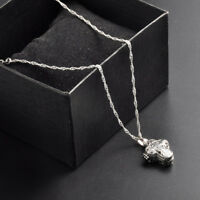 925 Silver Locket Magnet Cross Pendant Chain Necklace Chocker Women Men Jewelry