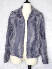 Renvy Faux Fur Coat Womens Small Soft Open Cardigan Style Medium Fit Value $169