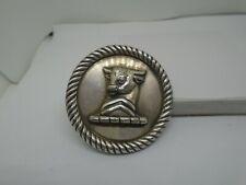 vintage sterling silver bull belt buckle very heavy