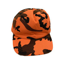 Mens Winchester Hat Cap Orange Camouflage Hunting Outdoor Snapback