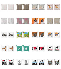 Ambesonne Dog Lover Cushion Cover Set of 2 for Couch and Bed in 4 Sizes