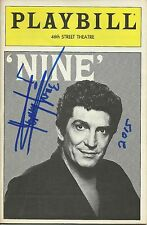 Tommy Tune signed Nine Playbill