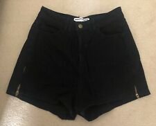 American Apparel Black High Waisted Shorts Size 26/27