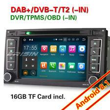 Android 8.1 GPS OBD Autoradio Navi Für VW T5 Multivan Touareg Canbus DVB-T2 TPMS