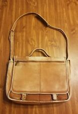 Wilsons Leather Shoulder Courier Bag Briefcase Vintage Messenger Brown