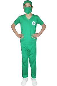 New Children Surgeon Doctor Costume Kids Boys Fancy Dress Outfit