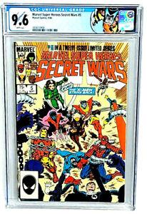 Marvel Super Heroes Secret Wars #5 CGC 9.6 Marvel Comic Book 1984