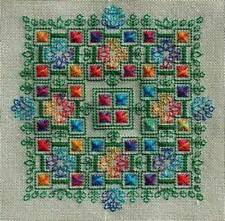 Bliss Blackwork CHART & Silk Floss Pack-SEBA Designs