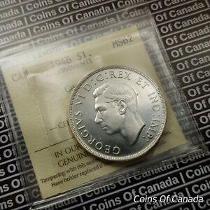 1946 Canada $1 Silver Dollar - ICCS MS-62 Cameo - RARE w/ CAMEO!  #coinsofcanada