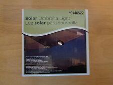 "Litex Solar Umbrella Light 4"" Black ~ Free Shipping"